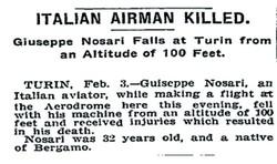 Giuseppe Nosari sul New York Times