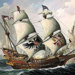 Pirati dei Caraibi? No, di Bergamo  C'è il galeone e conquista le strade