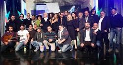 Comici, autori e presentatori di Zelig 1  in occasione della presentazione alla stampa del programma in onda dal 18 dicembre in prima serata su Italia 1.