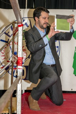 Matteo Salvini alla festa della Lega di Chiuduno