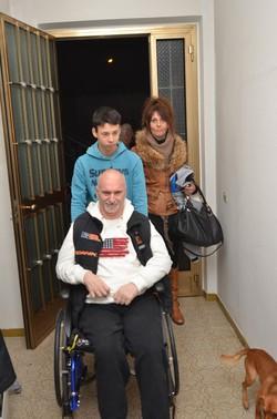 Guido Vanelli con la sua famiglia