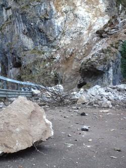La frana in Val Serina