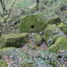 Quelle misteriose ruote di pietra  nascoste nei boschi di  Carvico