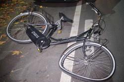 Una delle due biciclette danneggiate