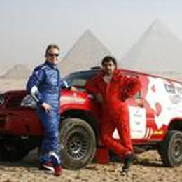 Un bolide costruito in casa  per correre i rally africani