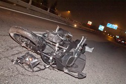 La moto di Claudio Armanni dopo l'incidente