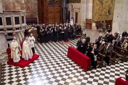 Il vescovo durante le celebrazioni dell'Immacolata Concezione