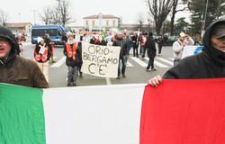 La manifestazione in centro