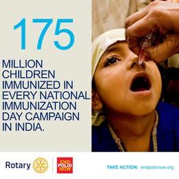 Eradicare la polio  I Rotary in campo