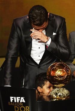 Cristiano Ronaldo commosso