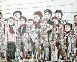 Riproduzione di Oliviero Passera dei campi di contrentameto nazisti