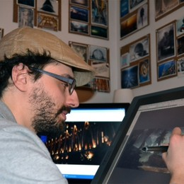 Il bergamasco che disegna film  Francesco «sbanca» Hollywood