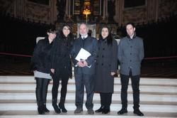 Il comandante Lo Sardo con i propri familiari: la moglie Giorgia, il figlio Vincenzo e le figlie Maria e Chiara.