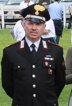 Il maresciallo Lo Sardo con la divisa dell'Arma