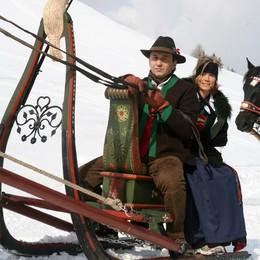 San Valentino sulle Dolomiti  in mongolfiera o sulla slitta