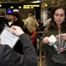 Liquidi da portare in aeroporto  Nuovo sistema dal 31 gennaio