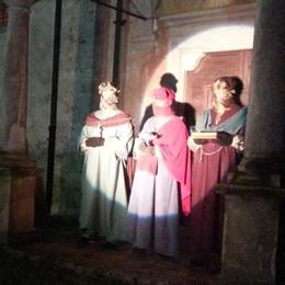 Casnigo, serata d'incanto  per l'arrivo dei Re Magi