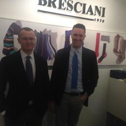 Bresciani, da Spirano apre a Mosca   E colora le calze tra musica e arte