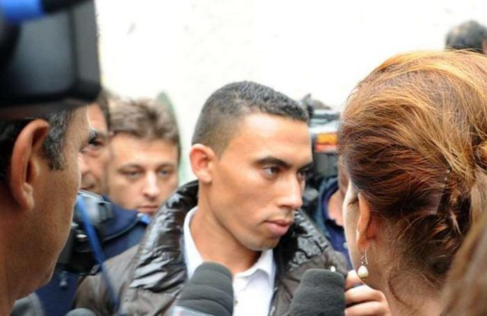 Mohammed Fikri all'arrivo in Tribunale nel settembre 2012