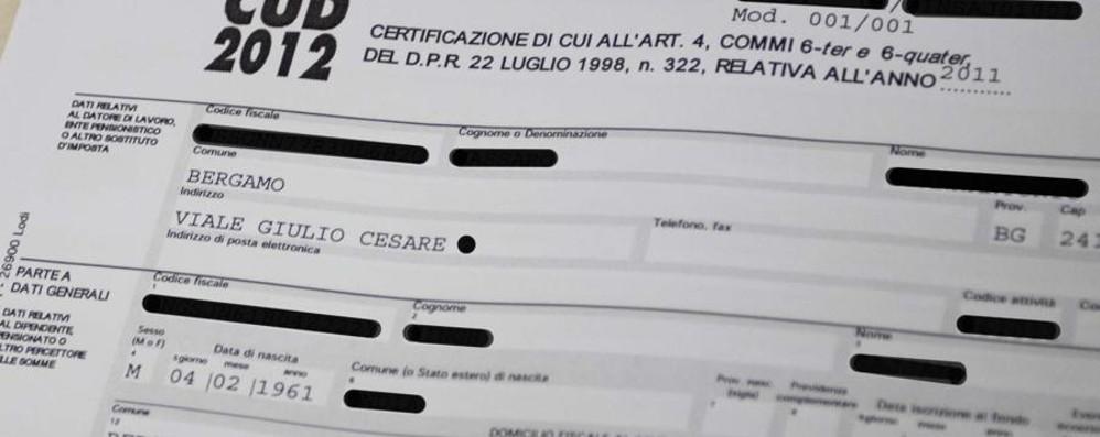 Tasse, dal 2015 addio al Cud Arriva la «Certificazione unica»