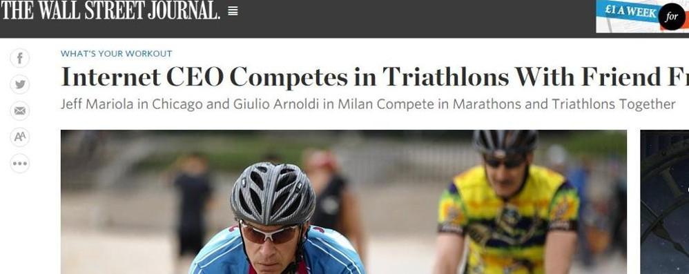 Un trevigliese sul Wall Street Journal Un Ironman grande amico del verde