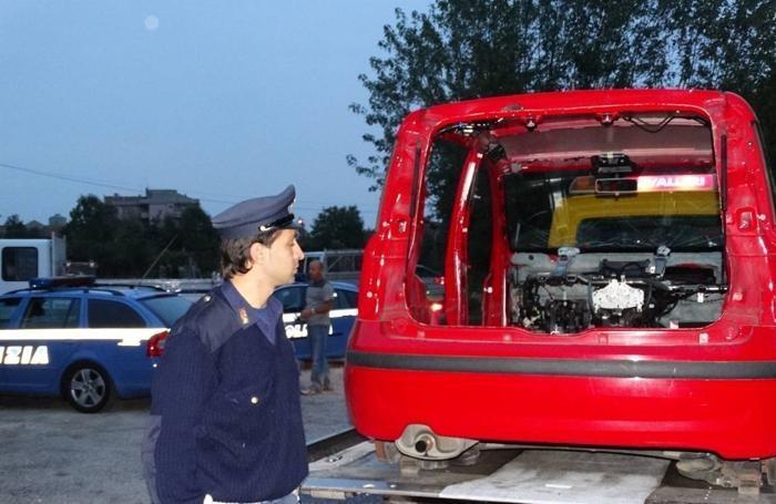 La polizia stradale in azione a Zanica