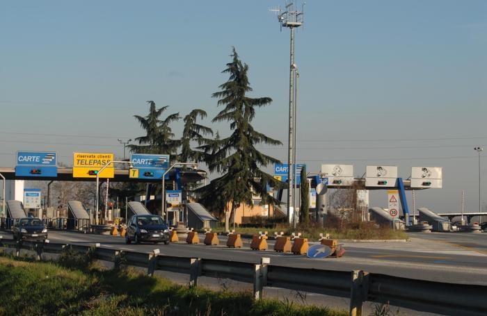 Il casello autostradale di Dalmine