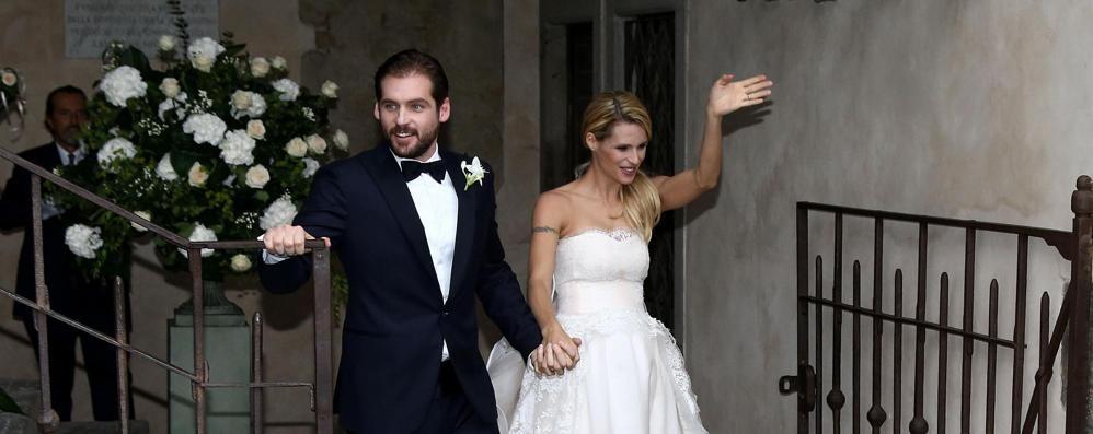 Hunziker-Trussardi sposi in Città Alta Anche Silvio Berlusconi al ricevimento