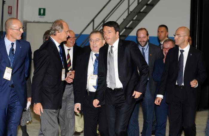 L'arrivo di Matteo Renzi a Nembro