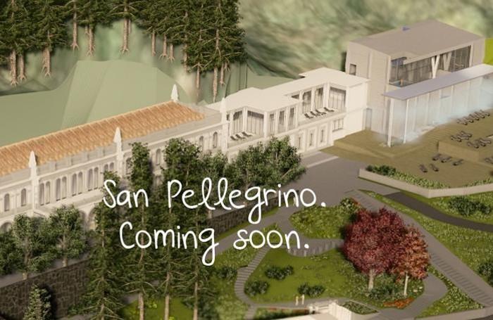 Un rendering delle future terme di San Pellegrino