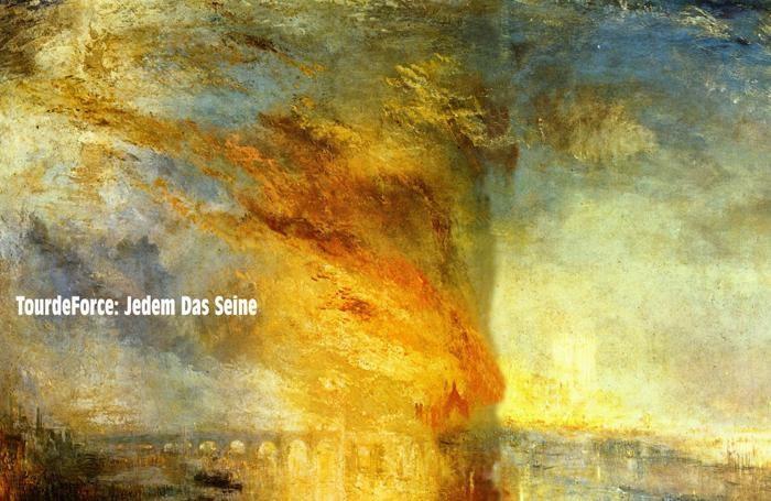 La copertina dell'album «Jedem Das Seine» dei TourdeForce, one man band costituita dal bergamasco Christian Ryder