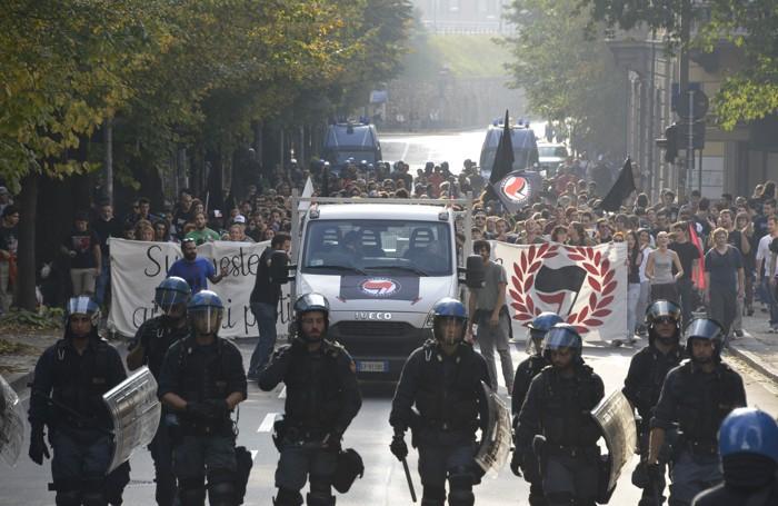 La manifestazine antifascista