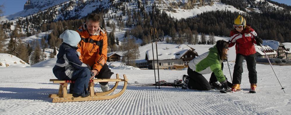 Sciare in Val d'Ega il regno dei bambini
