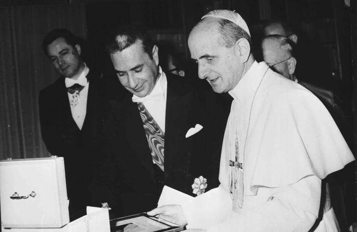 Paolo Vi con Aldo Moro