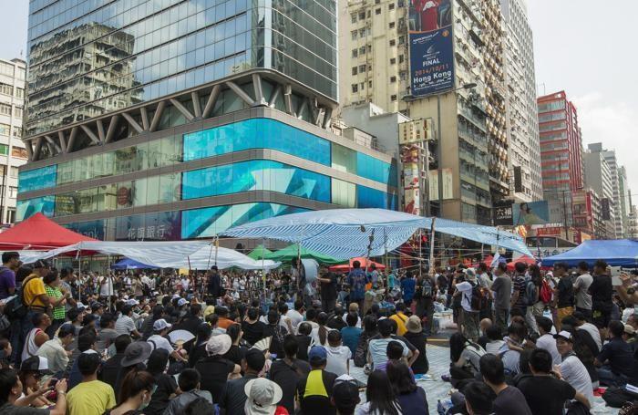 La protesta ad Hong Kong