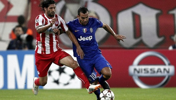 Champions: Olympiacos-Juventus 1-0