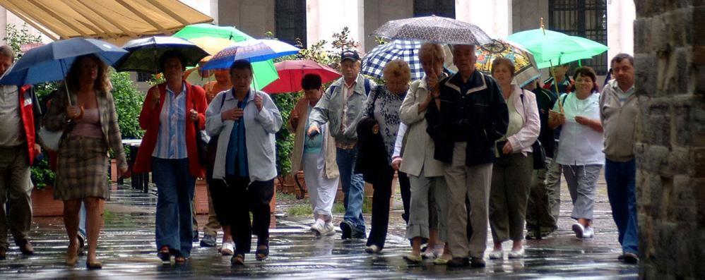 La pioggia annacqua il turismo A Bergamo estate con meno 6%