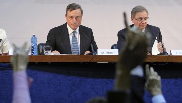 Draghi, sforzo comune anti-recessione