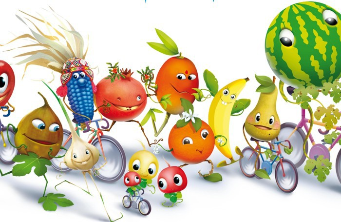 Ecco i personaggi che compongono Foody, mascotte di Expo Milano 2015