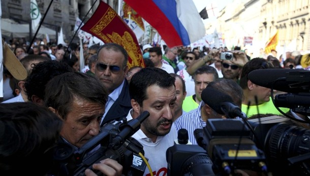 Salvini, io più a sinistra di Renzi