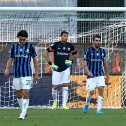 La costernazione di Biava, Sportiello e Cigarini dopo il secondo gol insaccato