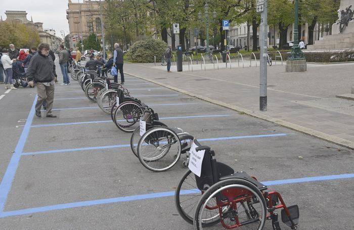La manifestazione dei disabili sabato mattina