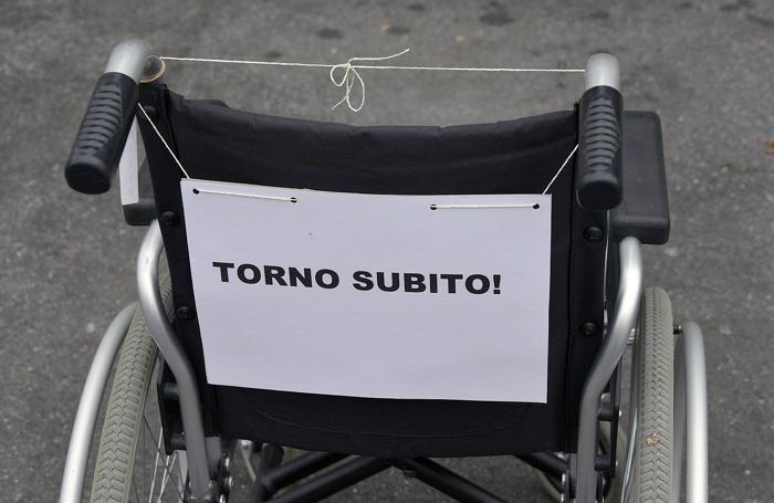 La manifestazione dei disabili