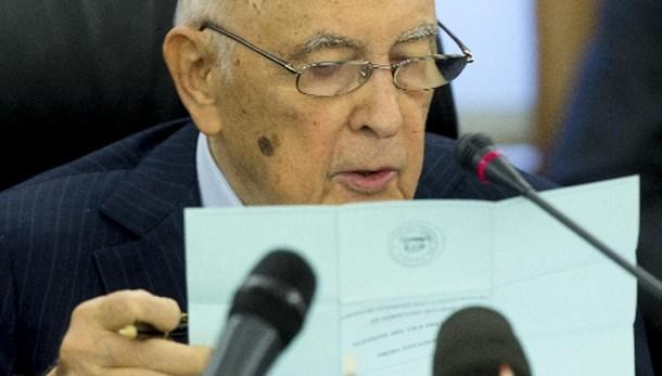 Pronto elenco domande pm a Napolitano