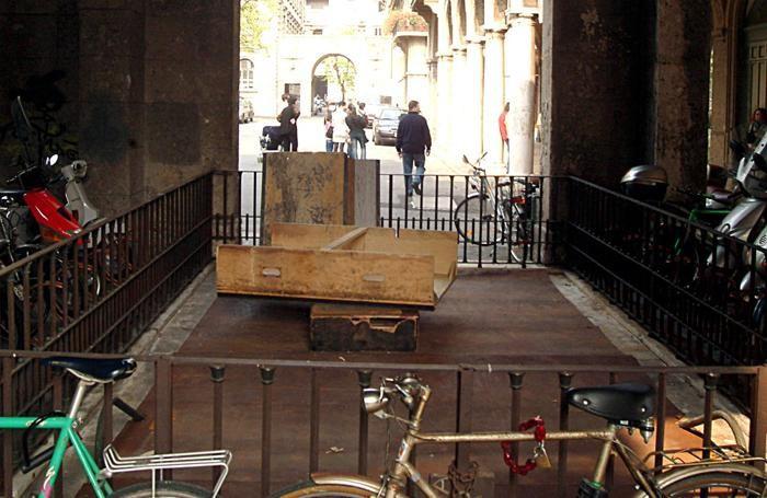 L'ingresso dell'ex Diurno in piazza Dante