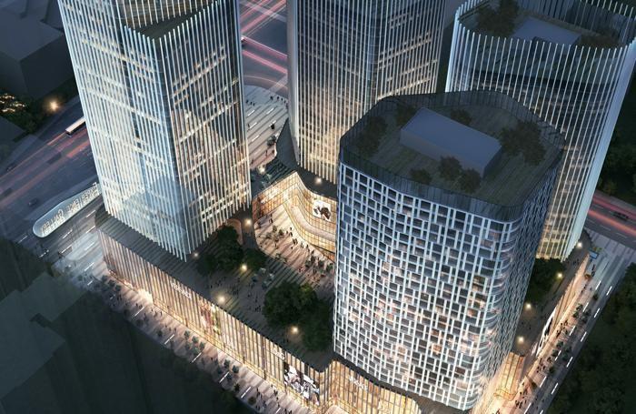 Il Seg Plaza in Xi'an, un Centro direzionale di 900 mila metri cubi, con quattro torri, di cui una di 200 metri di altezza progettato da Stefano Baretti per la compagnia governativa cinese «A+e design»
