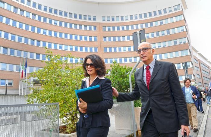 Claudio Salvagni e Silvia Gazzetti al  Tribunale di Brescia