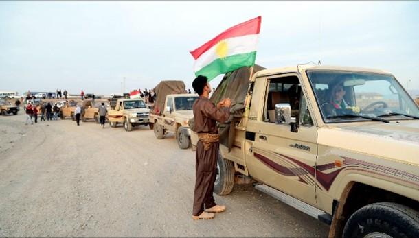 Isis, i primi Peshmerga a Kobane