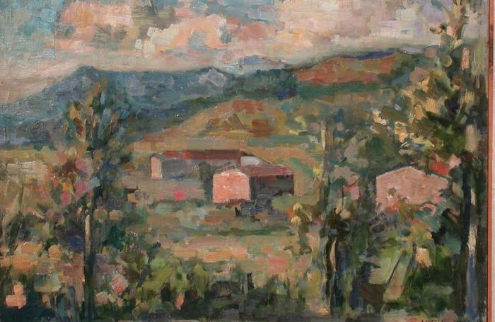 Alberto Vitali, Paesaggio (particolare), Collezione permanente della Provincia di Bergamo
