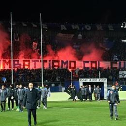 I tifosi dell'Atalanta nel match contro il Napoli